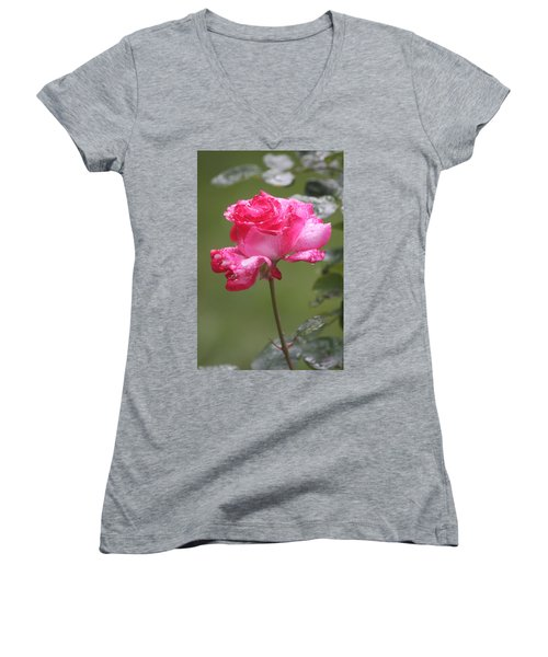 Women's V-Neck T-Shirt featuring the photograph To My Dearest Friend by Vadim Levin