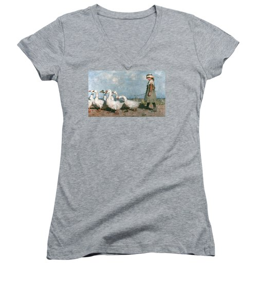 To Pastures New Women's V-Neck