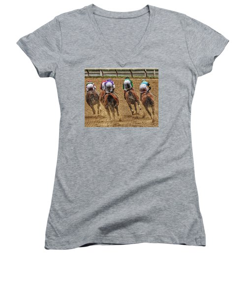 To The Finish Women's V-Neck (Athletic Fit)