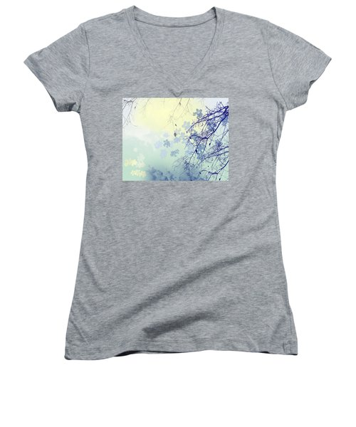 To The Waiting One Women's V-Neck T-Shirt (Junior Cut) by Trilby Cole