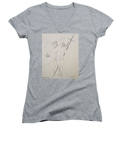 To Thine Own Self Be True Women's V-Neck (Athletic Fit)