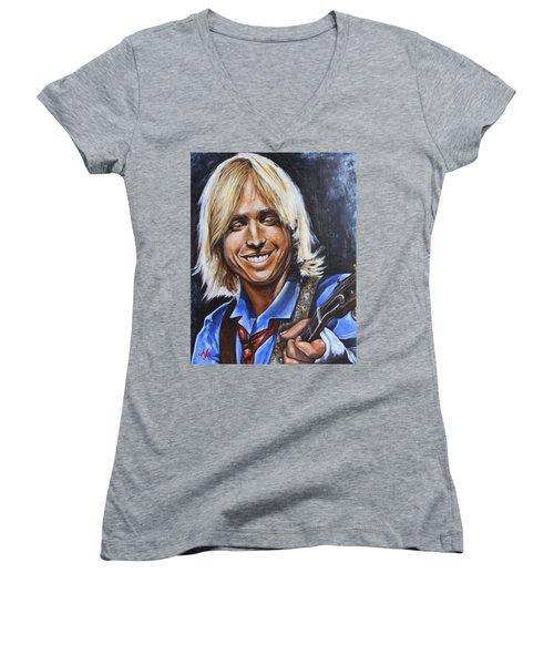 Tom Petty Women's V-Neck (Athletic Fit)
