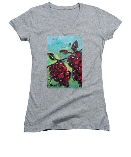 Tomorrows Pinot Noir Women's V-Neck (Athletic Fit)
