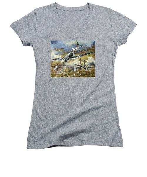 Tony Gaze, Unsung Hero Women's V-Neck T-Shirt (Junior Cut) by Colin Parker