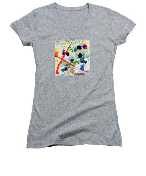 Too Much Fun Women's V-Neck T-Shirt (Junior Cut) by Phil Strang