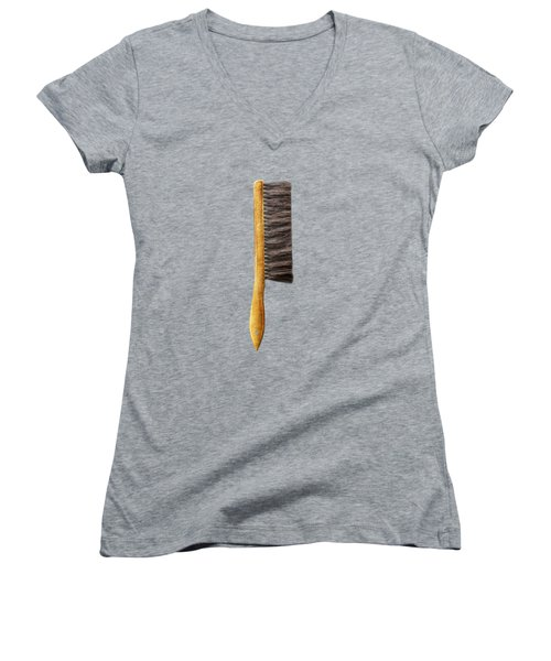 Tools On Wood 52 On Bw Women's V-Neck T-Shirt