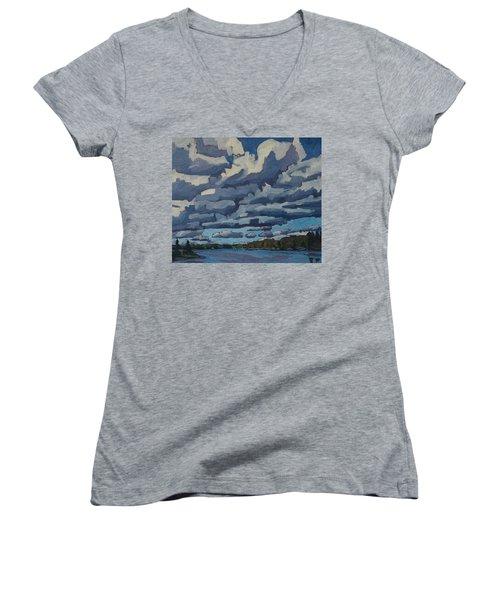 Top Lit Cumulus Women's V-Neck T-Shirt