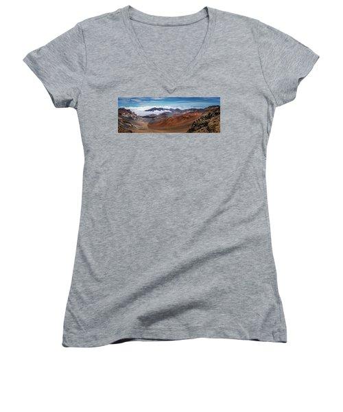 Top Of Haleakala Crater Women's V-Neck