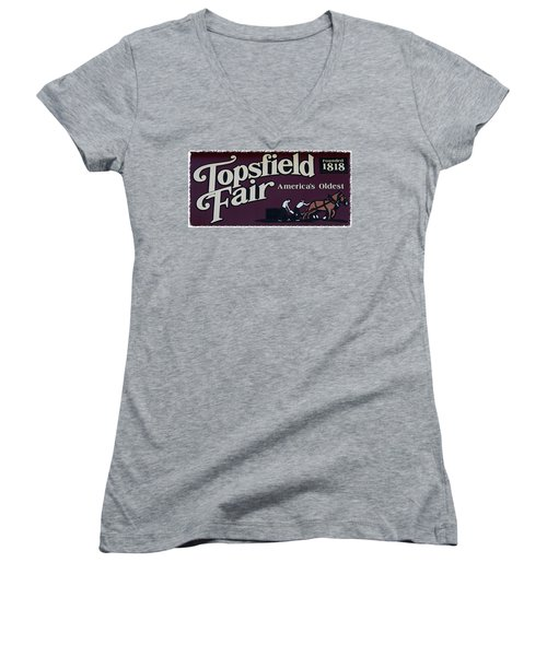 Topsfield Fair 1818 Women's V-Neck (Athletic Fit)