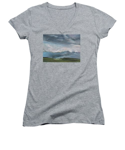 Tornado Warning Women's V-Neck T-Shirt