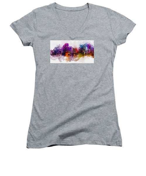 Toronto Canada Skyline Women's V-Neck