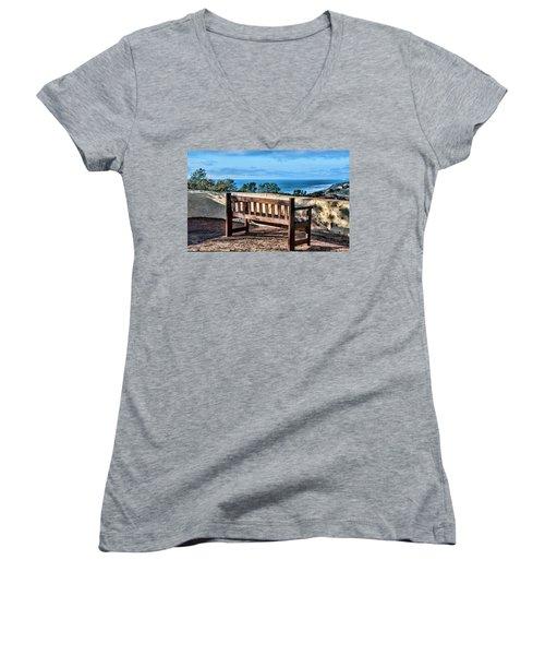 Torrey Pines View Women's V-Neck T-Shirt (Junior Cut)