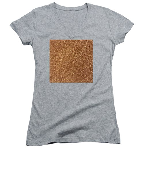 Touch Of Gold Women's V-Neck T-Shirt