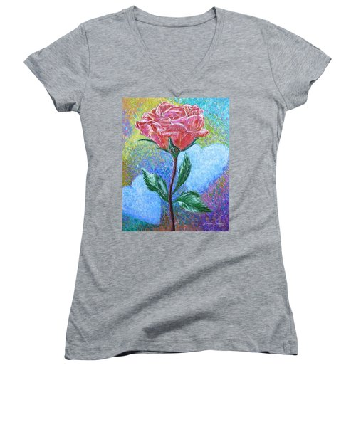 Touched By A Rose Women's V-Neck