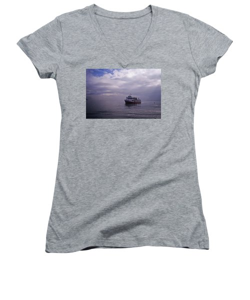 Tour Boat San Francisco Bay Women's V-Neck