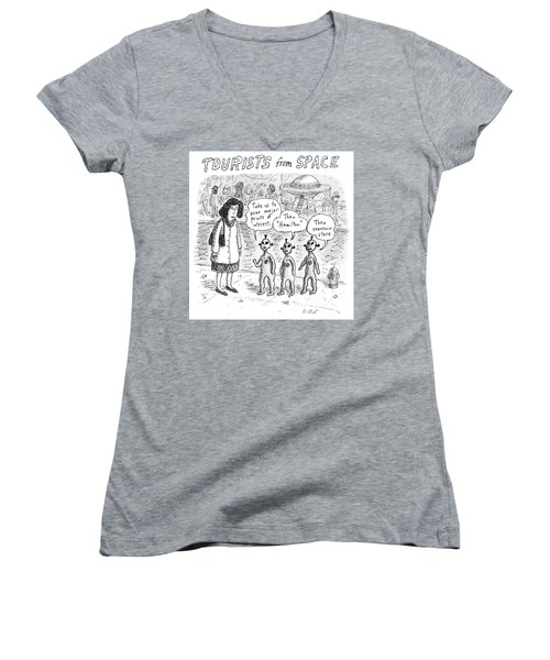 Tourists From Space Women's V-Neck