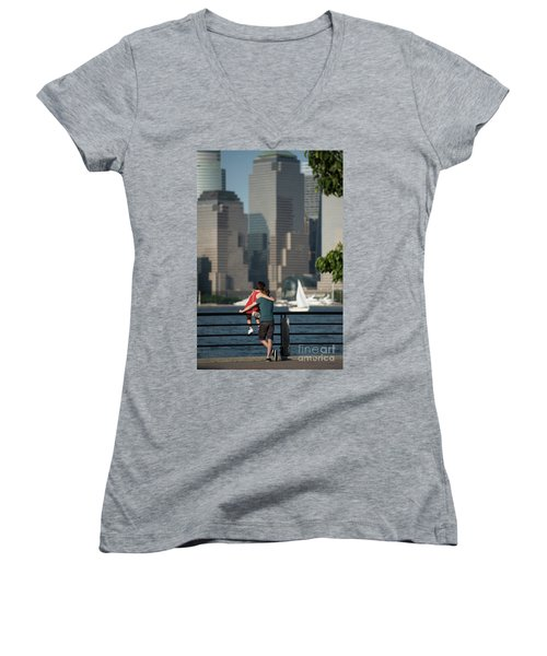 Tourists Women's V-Neck T-Shirt (Junior Cut) by Nicki McManus