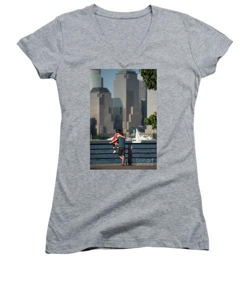 Tourists Women's V-Neck (Athletic Fit)