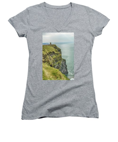 Tower At The Cliffs Of Moher Women's V-Neck
