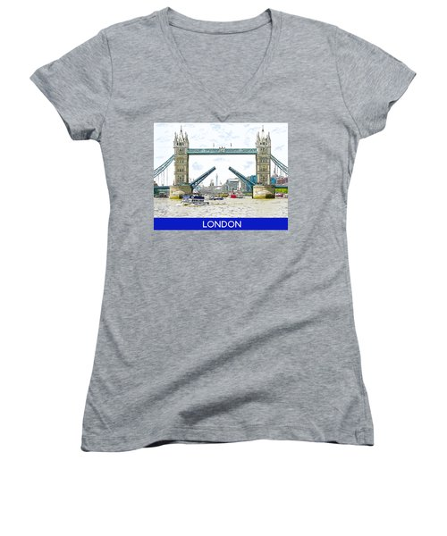 Tower Bridge London England Women's V-Neck