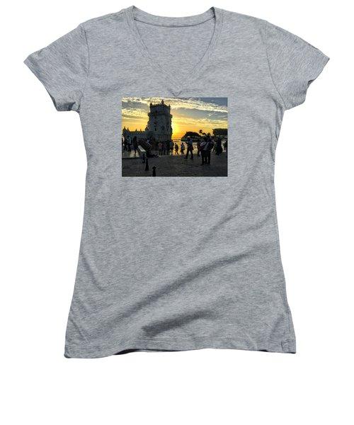 Tower Of Belem Women's V-Neck T-Shirt