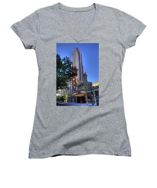 Towering Over The Fox Women's V-Neck T-Shirt