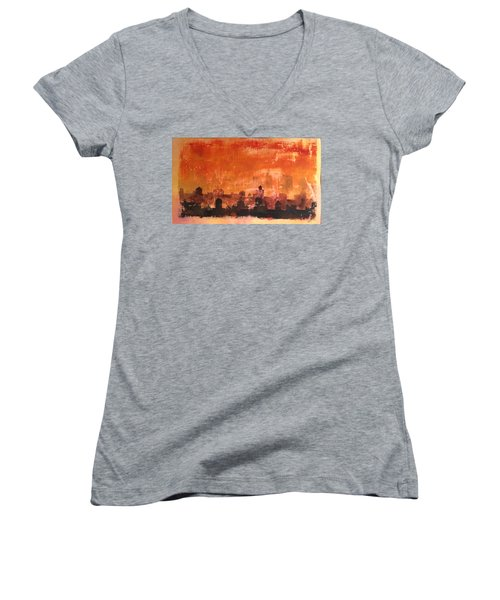 Towers And Tanks Women's V-Neck