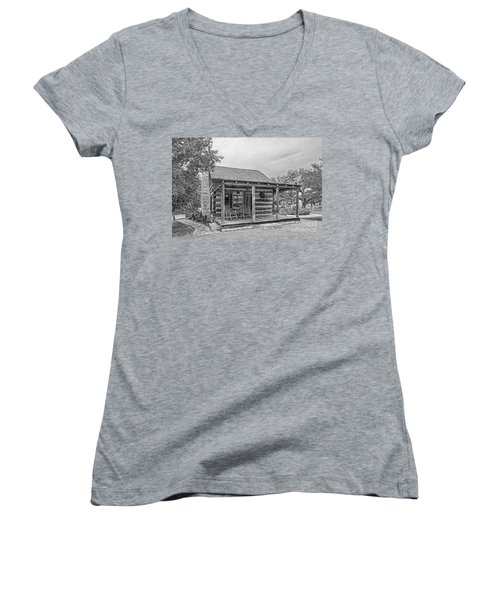 Town Creek Log Cabin Women's V-Neck (Athletic Fit)