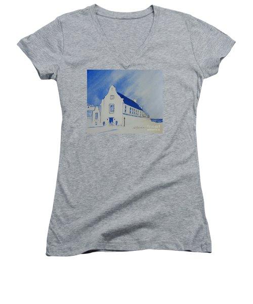 Town Hall, Rosemary Beach Women's V-Neck T-Shirt
