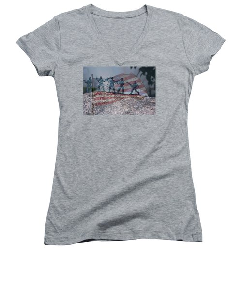 Toy Soldiers Women's V-Neck