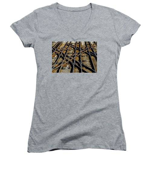 Tracks Of Abandon Women's V-Neck T-Shirt