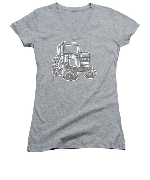 Tractor Transparent Women's V-Neck (Athletic Fit)
