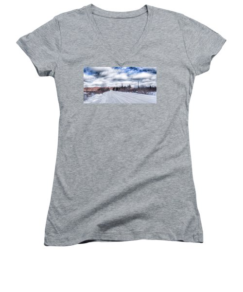 Trail One In Old Forge 2 Women's V-Neck