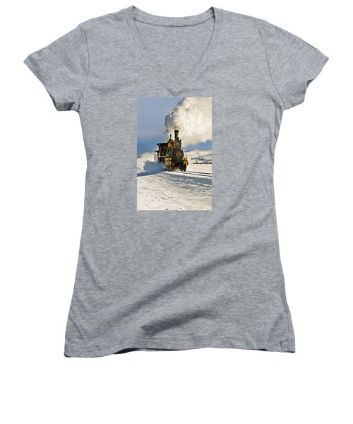 Train In Winter Women's V-Neck