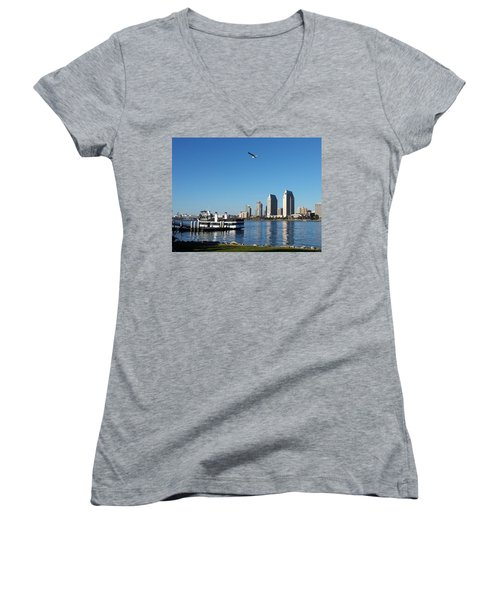 Tranquility By The Bay Women's V-Neck