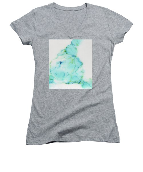 Tranquil And Soft Sky Women's V-Neck (Athletic Fit)