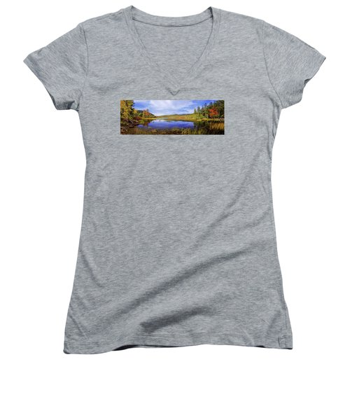 Women's V-Neck T-Shirt (Junior Cut) featuring the photograph Tranquil by Chad Dutson