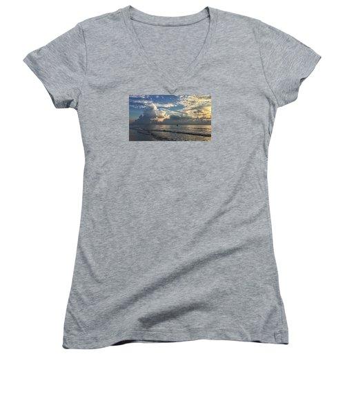 Tranquil Fisherman Women's V-Neck T-Shirt