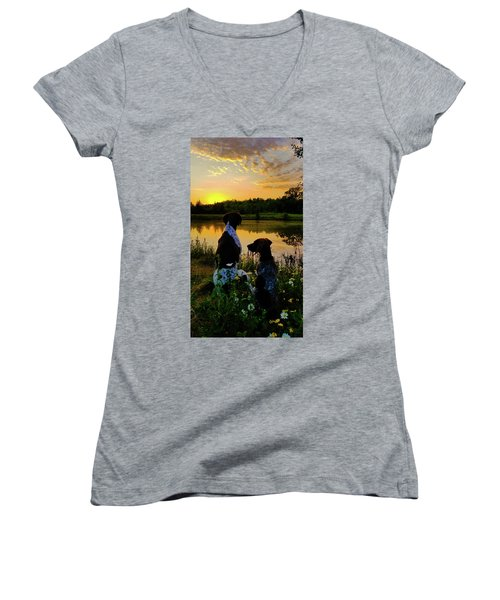 Tranquil Moment Women's V-Neck (Athletic Fit)