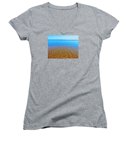 Women's V-Neck T-Shirt (Junior Cut) featuring the photograph Tranquility by Kathleen Sartoris