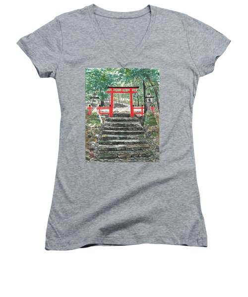 Tranquility Torii Women's V-Neck (Athletic Fit)