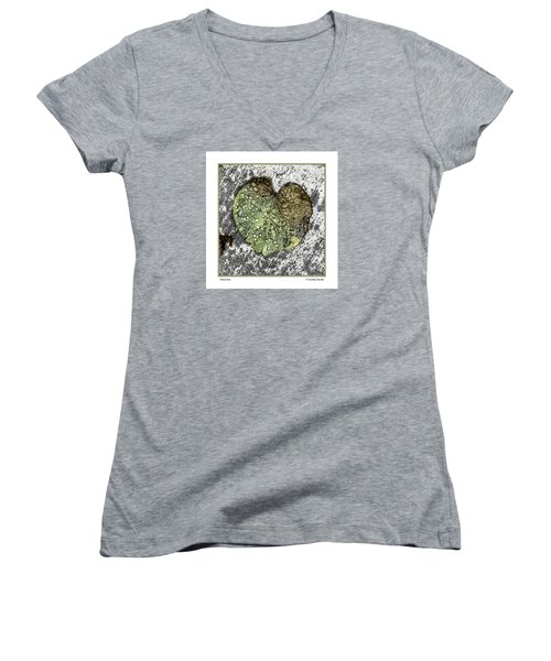 Women's V-Neck T-Shirt (Junior Cut) featuring the photograph Transition by R Thomas Berner