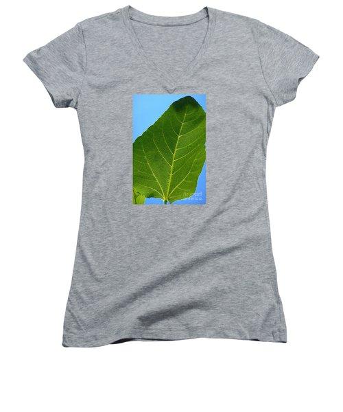 Transparence 18 Women's V-Neck T-Shirt (Junior Cut) by Jean Bernard Roussilhe