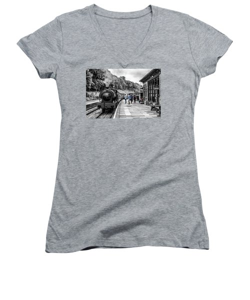 Travellers In Time Women's V-Neck (Athletic Fit)