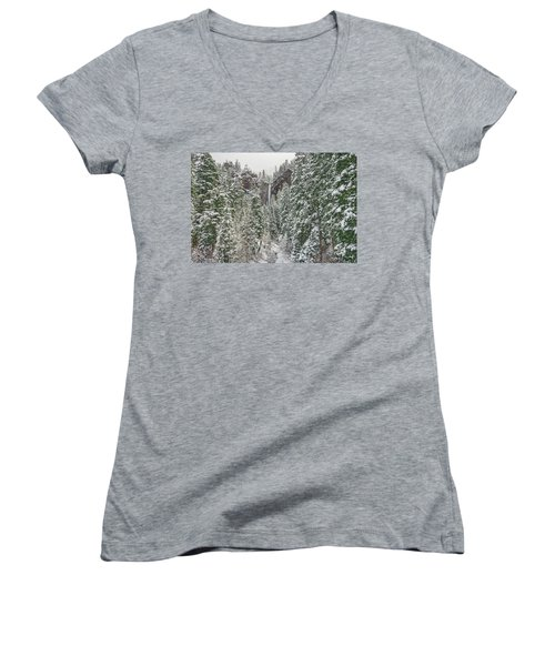 Treasure Falls Is One Of Colorado's Priceless Treasures.  Women's V-Neck (Athletic Fit)