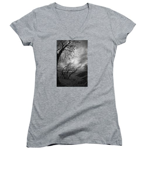 Tree 1 Women's V-Neck (Athletic Fit)