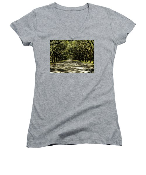Tree Covered Approach Women's V-Neck