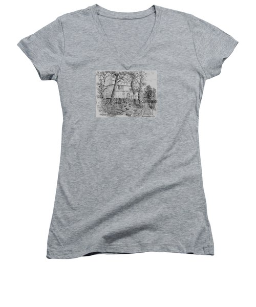 Tree House #5 Women's V-Neck T-Shirt (Junior Cut) by Jim Hubbard
