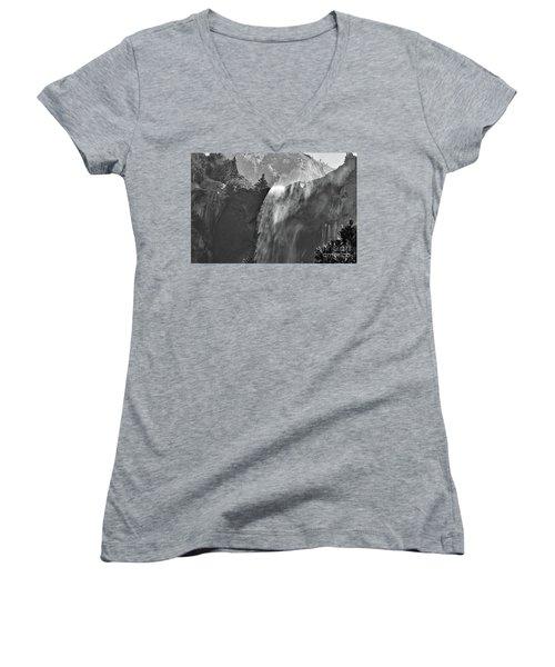 Tree Lined Bridalveil Falls Beginning Women's V-Neck T-Shirt