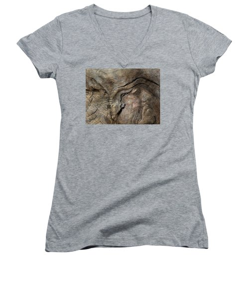 Women's V-Neck T-Shirt (Junior Cut) featuring the photograph Tree Memories # 23 by Ed Hall